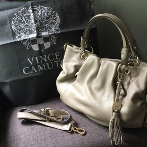 Vince Camuto Taupe Leather Bag